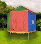8 FT DIAMETER- TRAMPOLINE TENT- FOR 6 POLE ENCLOSURE - More Info Specifications for Tr&olines and Enclosure that Fits the Tent Frame Diameter 8 feet & TrampolineTents4U